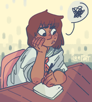 Emi is that stressed writer rep we all need by iLee-Font