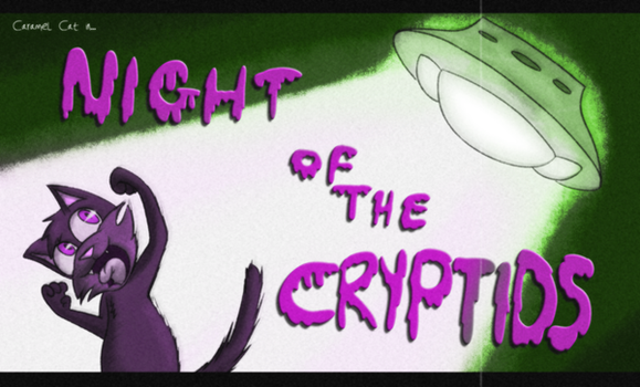 Title Card: Night of the Cryptids by Draco-Ryo