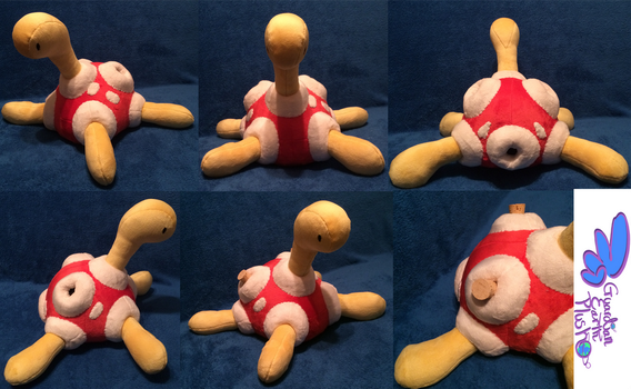 Shuckle Pokemon Plush! 12'' by GuardianEarthPlush