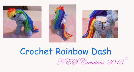 Crochet Rainbow Dash by Zero23