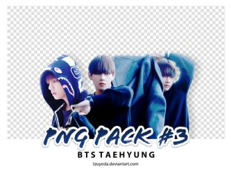 PNG PACK #3 ( BTS Taehyung ) by tzuyoda