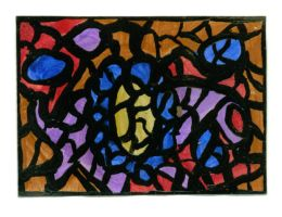 ACEO 'Stained Glass 2' by wiyaneth