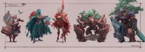 Character Designs by JasonTN