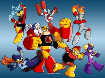 The First Eight Robot Masters by MSipher