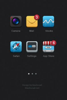 6 icons for iphone by blacksnail