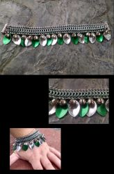 Scales and bells Bracelet by TheCharmedDragon