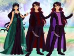 Queen Kayla with her sons Prince Lea and Prince Ax by Bluediamondpikachu83