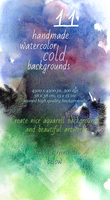 11 Handmade Cold Watercolor Backgrounds by saimana