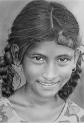 Pencil portrait of a girl from Goa by LateStarter63