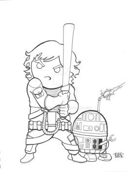 Luke and R2 by MARR-PHEOS