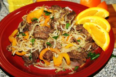 Orange Beef Chow Mein by oibyrd