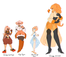 Orange Gem Adopts (CLOSED) by Blissful-Rouzes