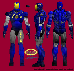 NYPD 'Iron Guard' armor by Ranchoth