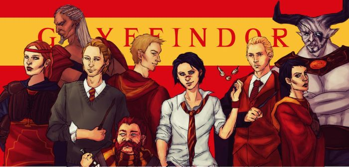 DA [HP CROSSOVER] - Team Gryffindor by K-yon