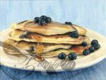 Blueberry Pancakes by TzimplyArt