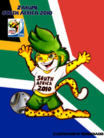 .:World Cup Mascots:. Zakumi by MundienaSKD