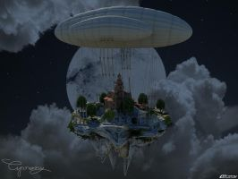 Island in the moon light by cipriany