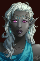 Drow Lady by Otakatt