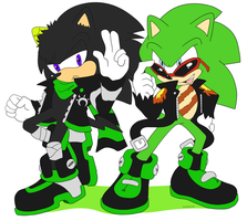 Commission Dust and Scourge by Domestic-hedgehog