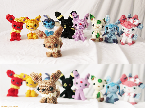 Eeveelutions by TheSmall-Stuff