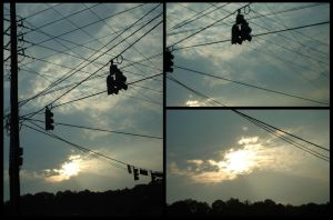 God and Power Lines by Alimari