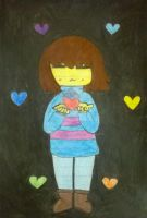Frisk and the six souls by Sugarcat18