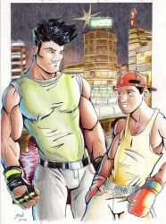 Adam and Skate. Streets of Rage tribute by Dani-Castro