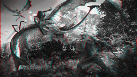 The witcher 3 wild hunt combat with sirens-anaglyp by Hernanarce