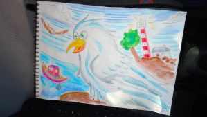Seagull by Elsira
