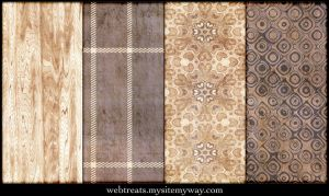 Grungy Natural Beige Patterns by WebTreatsETC