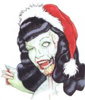 Zombie Bettie Page by ChrisOzFulton
