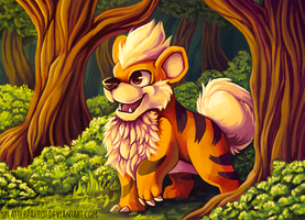 Growlithe! by SplatterParrot