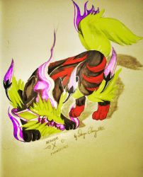Arcanine X Chandelure by Dragon-Eternal