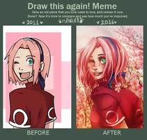 DRAW THIS AGAIN -SAKURA HARUNO by Isanika