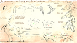 Razorwing extended ref: Anatomy and head designs by Sezaii