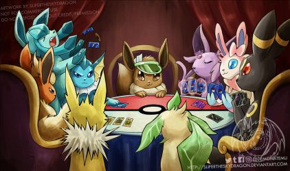 Eevee poker night by slifertheskydragon