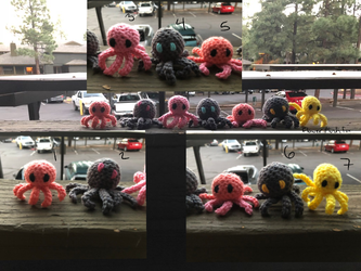 Adoptable Octopi Plushies (Open) by FlowerPlushFox