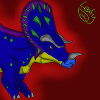 Thanatoceratops (digital redraw) by aerithedrgn