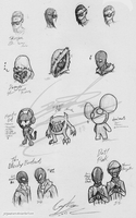 Traditional: EDM Sketches by GingaAkam