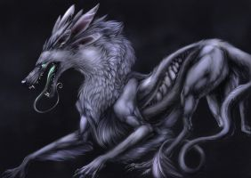 Serpentine Wolf by Blackpassion777