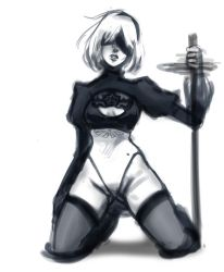2B sketch by SailorSquall