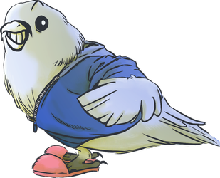 A fluffy bird named sans by Brou07