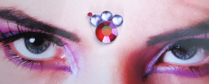 Purple Pink Assimatrical Bindi by feeora