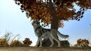 PSN Lone Wolf Tree by shinigamisgem
