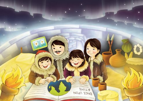 Eskimo Family in Read by magicaldix