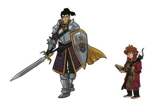 Commission: The Paladin and the Academic by Skyserpent