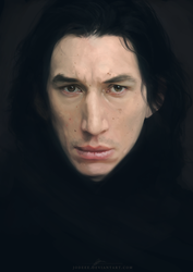 Kylo Ren  - Speed Painting by jodeee