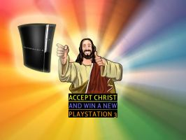 accept christ and win a PS3 by inrainbows