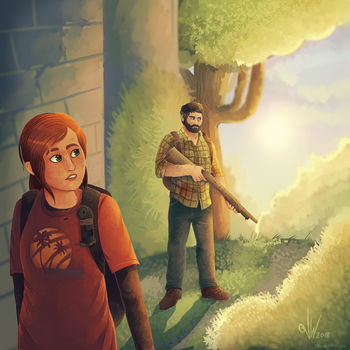Ellie and Joel / The Last of Us (redraw) by C-H-I-Z-U