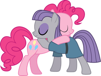 Pinkie and Maud Hugging by 90Sigma